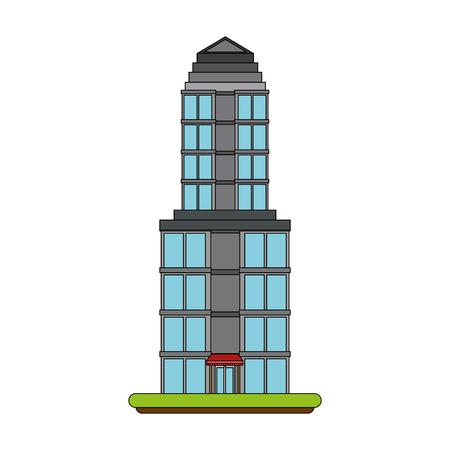 Tower building symbol icon vector illustration graphic design Illustration