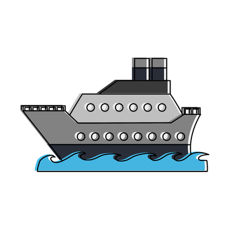 Cruise ship symbol icon vector illustration graphic design Ilustração