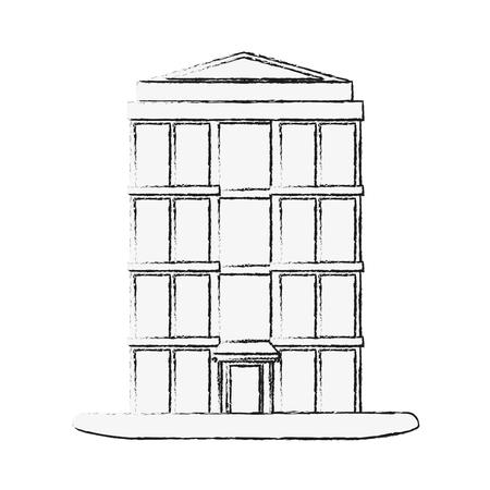 Tower building symbol icon vector illustration graphic design Vectores