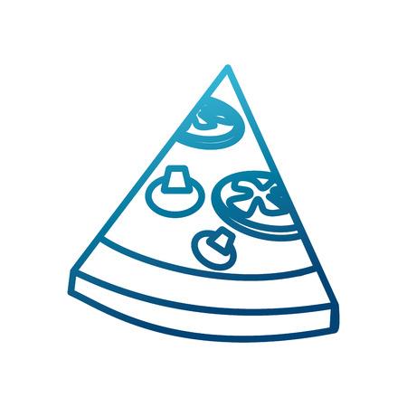 Pizza slice food icon vector illustration, graphic design.