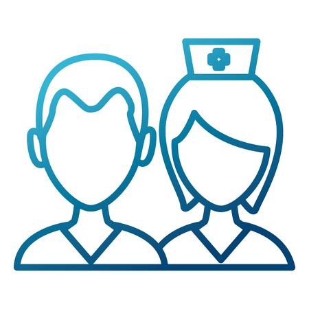Medical teamwork avatar icon vector illustration graphic design