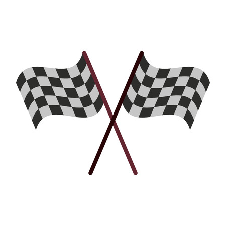 Racing flags symbol icon vector illustration graphic design