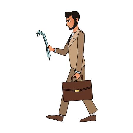 Executive Businessman cartoon icon vector illustration graphic design