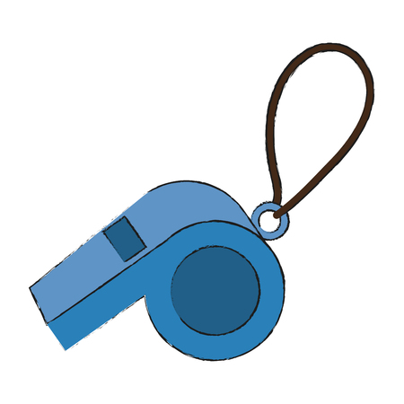Referee whistle isolated icon vector illustration graphic design Illustration