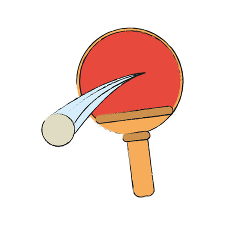 Tennis table racket and ball icon vector illustration graphic design