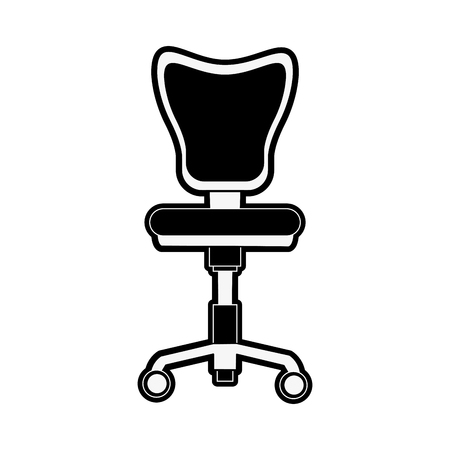 office chair with wheels icon vector illustration graphic design