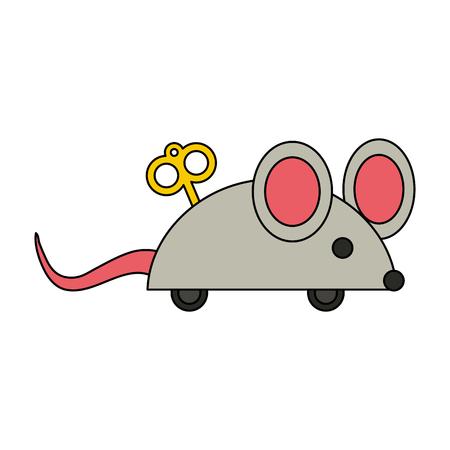 Joke mouse toy icon vector illustration graphic design Illustration