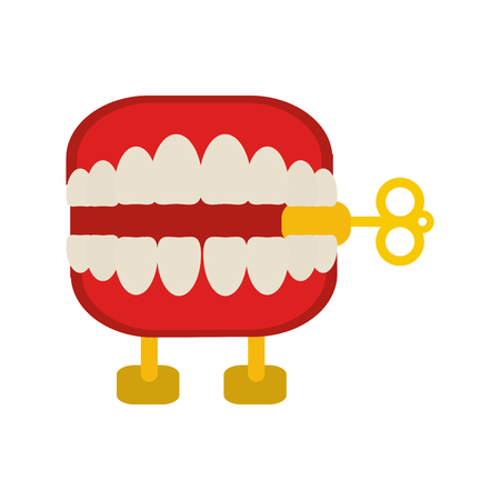 Funny tooth box joke icon vector illustration graphic design