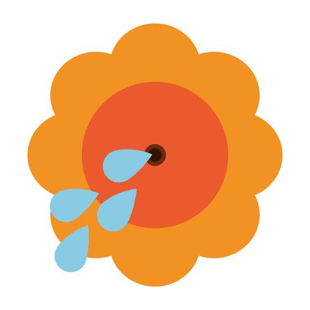 squirt flower joke icon vector illustration graphic design