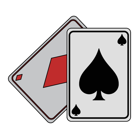Gambling cards isolated icon vector illustration graphic design
