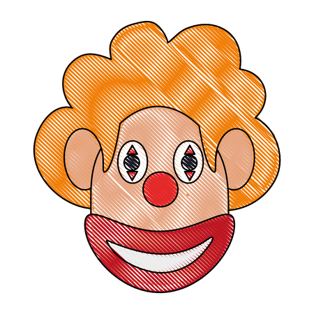 Funny clown mask icon vector illustration graphic design Illustration