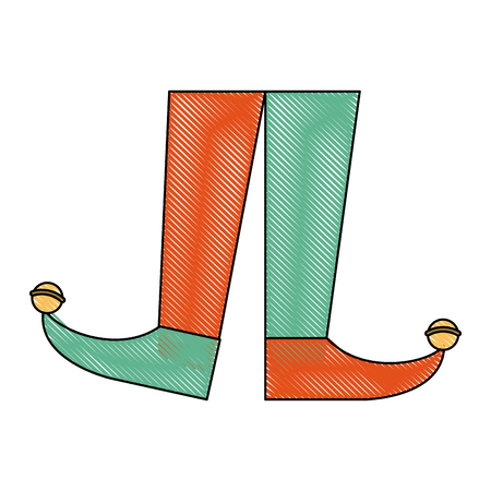 Jester boots cartoon icon vector illustration graphic design Illustration