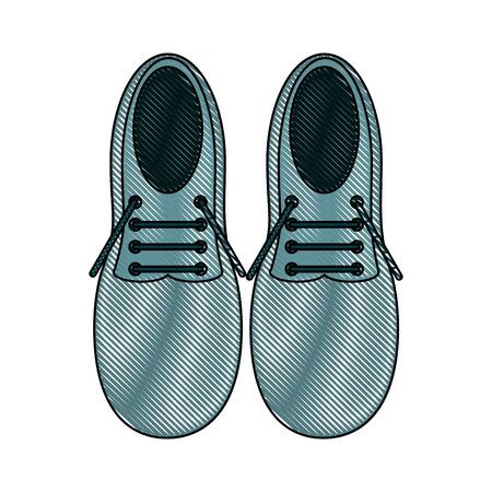 Pair of elegant shoes icon vector illustration graphic design Illustration