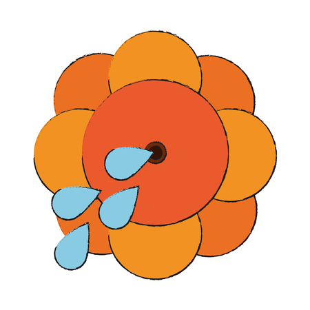 squirt flower joke icon vector illustration graphic design