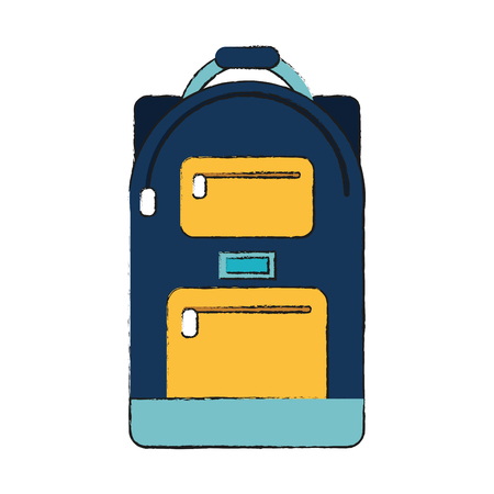 School backpack isolated icon vector illustration graphic design Vectores