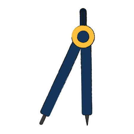 Compass geometric tool icon vector illustration graphic design