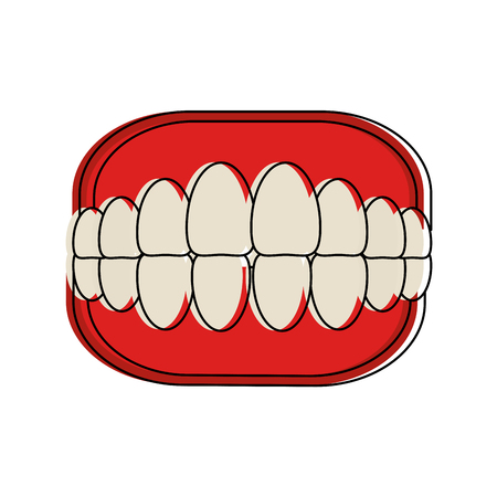 Toothbox dental care icon vector illustration graphic design