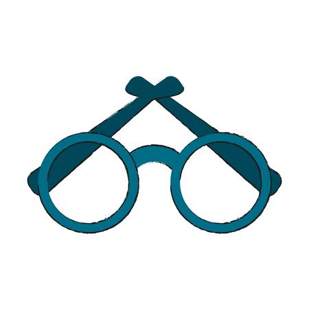 Round frame glasses icon vector illustration graphic design