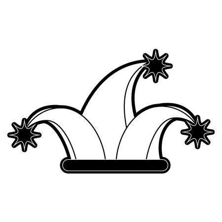 Jester hat symbol icon vector illustration graphic design