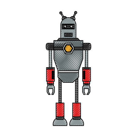 Cute robot cartoon icon vector illustration graphic design Banco de Imagens - 90357304