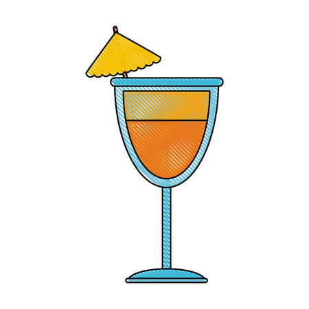 Cocktail alcohol drink icon vector illustration graphic design