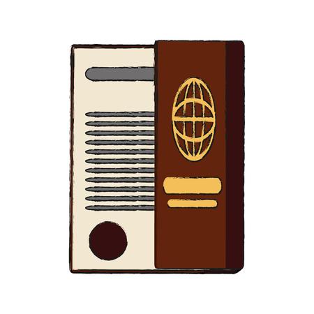 Passport travel document icon vector illustration graphic design  イラスト・ベクター素材