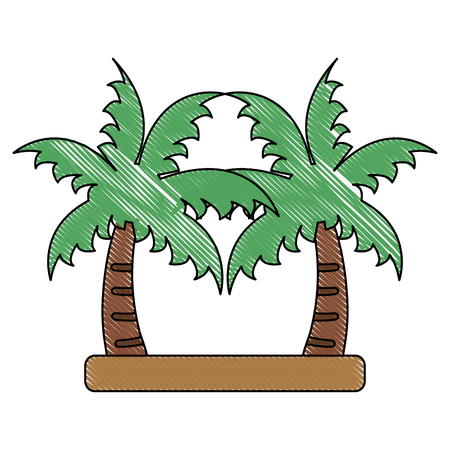 Palms trees isolated icon vector illustration graphic design icon vector illustration graphic design