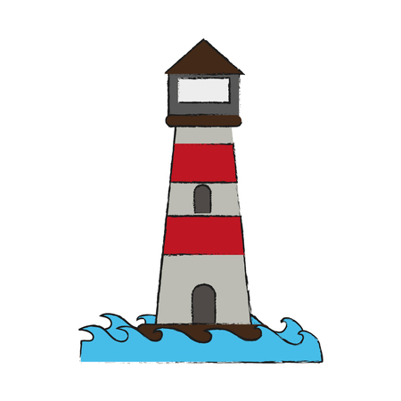 Lighthouse isolated symbol icon vector illustration graphic design Ilustrace