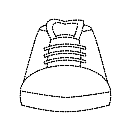 Shoe footwear isolated icon in dotted line illustration Çizim