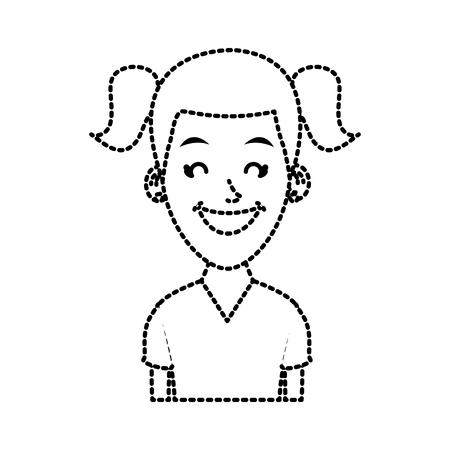 Woman profile cartoon icon vector illustration graphic design Illustration