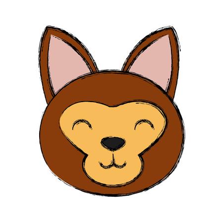 Cat head cartoon icon vector illustration graphic design Vectores