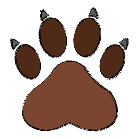 Paw print symbol icon vector illustration graphic design