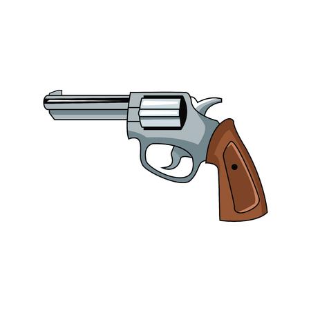 Classic handgun weapon icon vector illustration graphic design