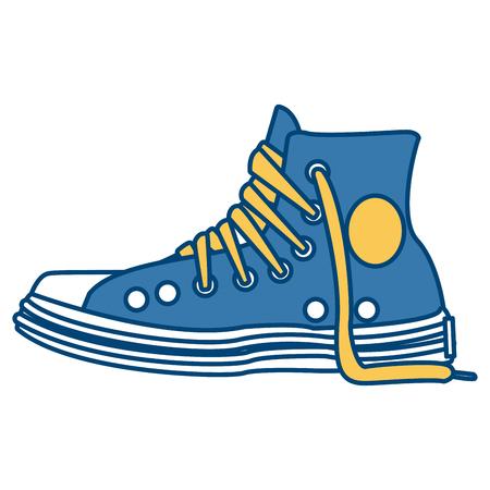 Classic urban shoe icon vector illustration graphic design Illustration