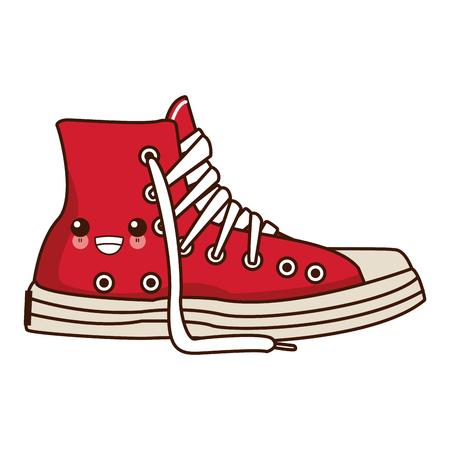 Classic urban shoe  cute cartoon vector illustration