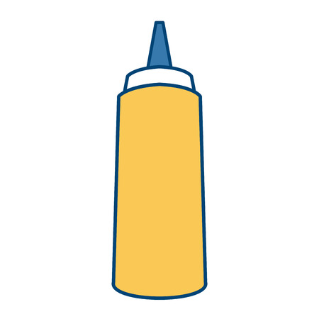 Sauce bottle isolated icon vector illustration graphic design Illustration