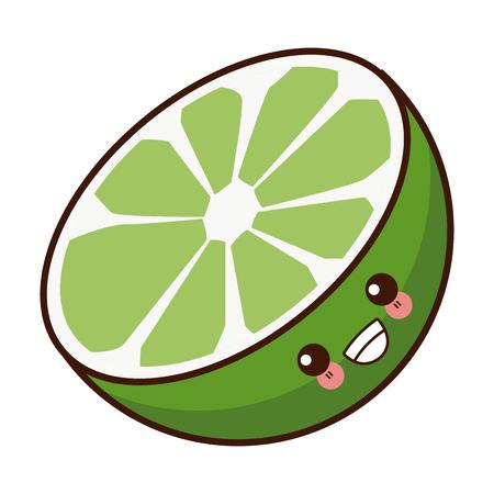 Lemon citric fruit  cute cartoon vector illustration