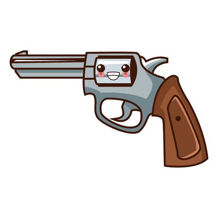 Classic handgun weapon   cute cartoon vector illustration