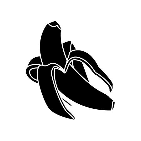 Delicious banana fruit icon vector illustration graphic design Illustration