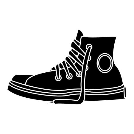 Classic urban shoe icon vector illustration graphic design 일러스트