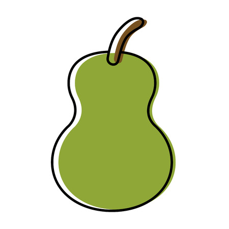 Pear delicious fruit icon vector illustration graphic design Illustration