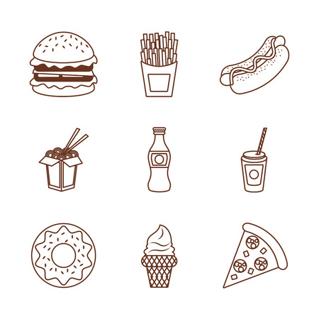 Fast food icons icon vector illustration graphic design