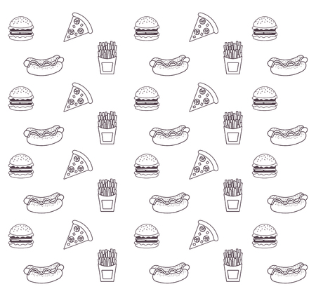 Fast food icons icon vector illustration, graphic design.
