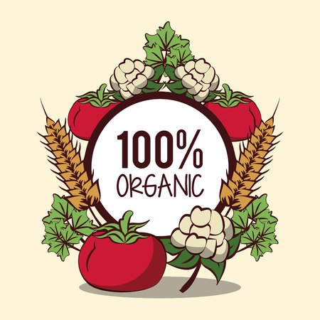 Organic vegetables icon vector illustration graphic design