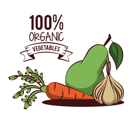 Organic vegetables icon vector illustration graphic design
