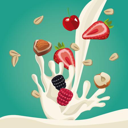 Progettazione grafica dell'illustrazione di vettore dell'icona dell'alimento della farina d'avena sana Archivio Fotografico - 90417276