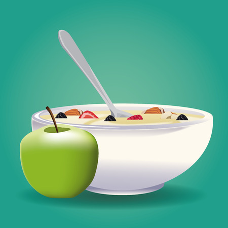 Oatmeal healthy food icon vector illustration graphic design