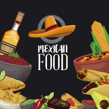 Mexican food brochure icon vector illustration graphic design