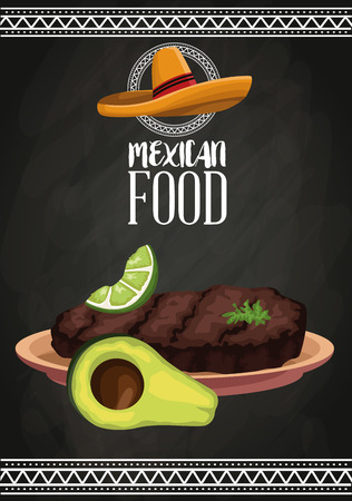 Mexican food brochure icon vector illustration graphic design