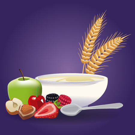 Nutritious food icon vector illustration graphic design